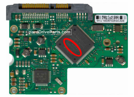 Seagate ST3250824AS Hard Drive PCB 100367025