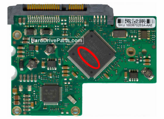 Seagate ST3250620AS Hard Drive PCB 100367026
