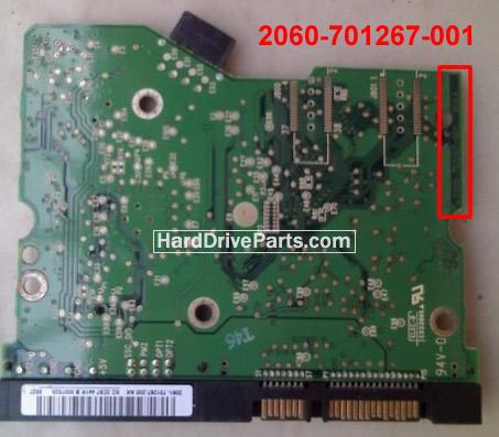 Western Digital PCB Board 2060-701267-001 REV A