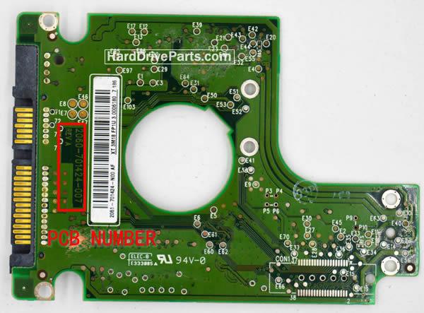 Western Digital PCB Board 2060-701424-007 REV A