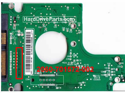 WesternDigital製HDDの回路基板2060-701572-002