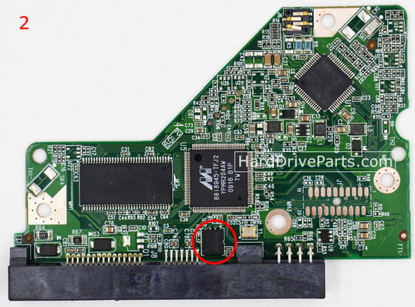 WD5000AAVS WD PCB Circuit Board 2060-701640-001