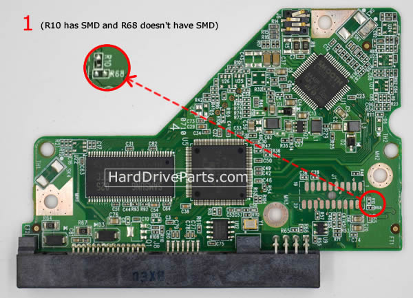 Western Digital PCB Board 2060-701640-002 REV A