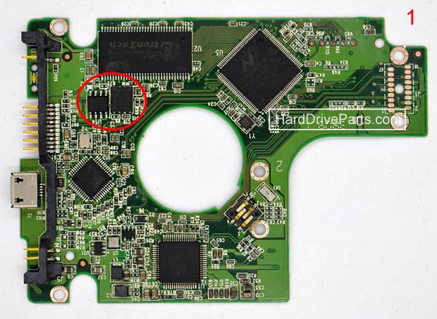 WesternDigital製HDDの回路基板2060-701675-001