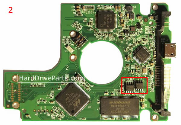WD5000BMVV WD PCB Circuit Board 2060-701675-004