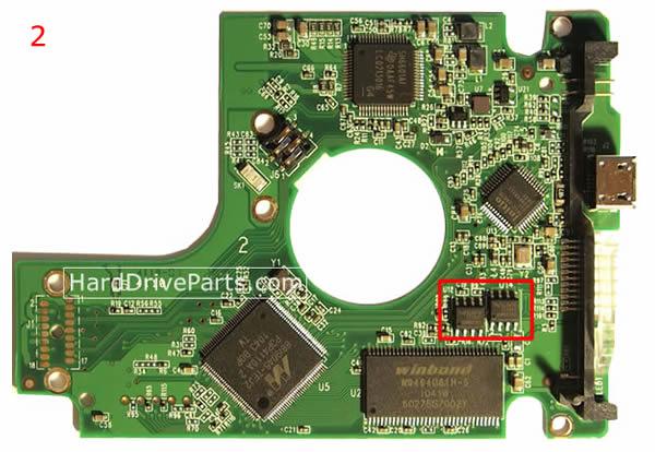 WD7500KMVV WD PCB Circuit Board 2060-701675-004