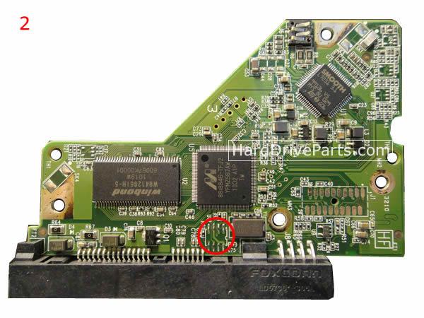 WD3200AAJS WD PCB Circuit Board 2060-771590-001