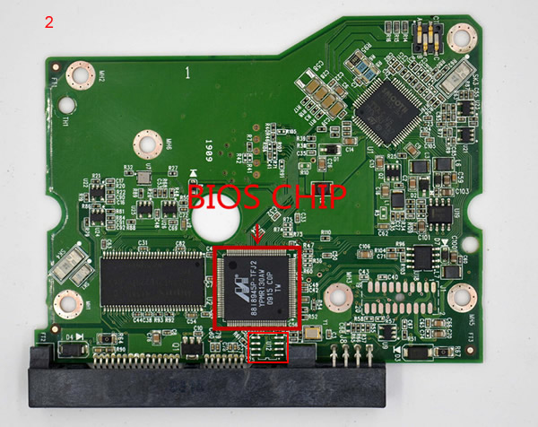 Western Digital PCB Board 2060-771624-001 REV P1