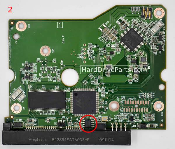 Western Digital PCB Board 2060-771642-001 REV P1