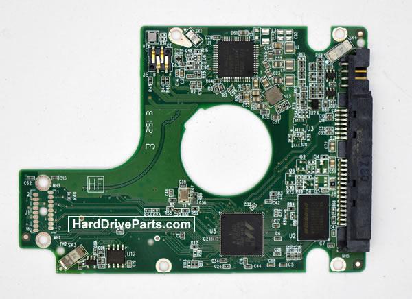 Western Digital WD7500BPVX HDD PCB 2060-771933-000