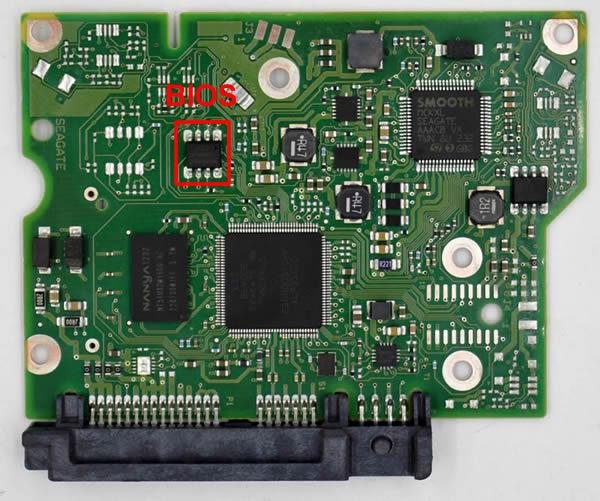 Seagate PCB 100664987's BIOS chip